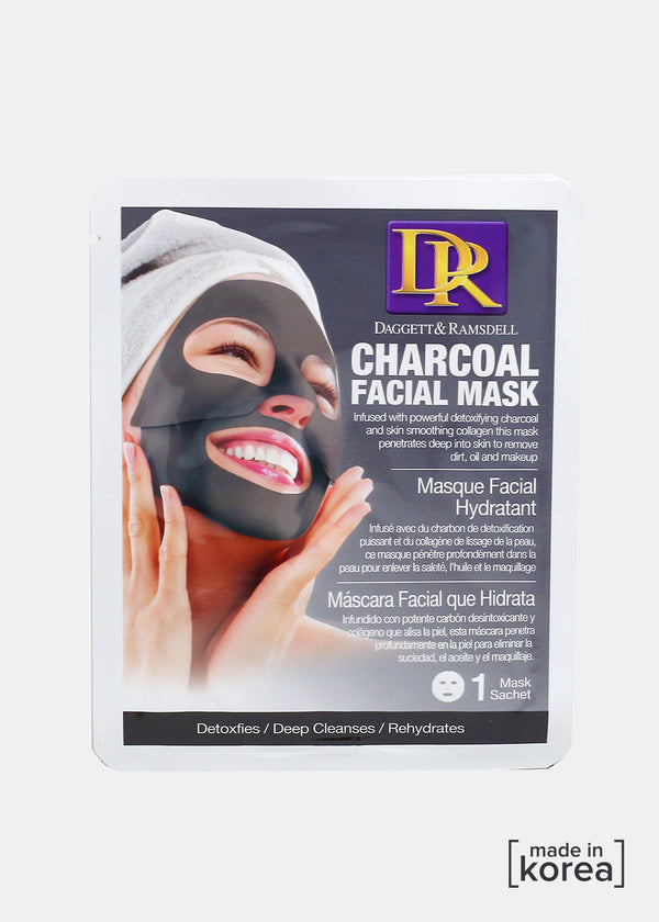 D&R Facial Sheet Mask- Charcoal
