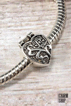 Antique Heart Stopper Bead Charm
