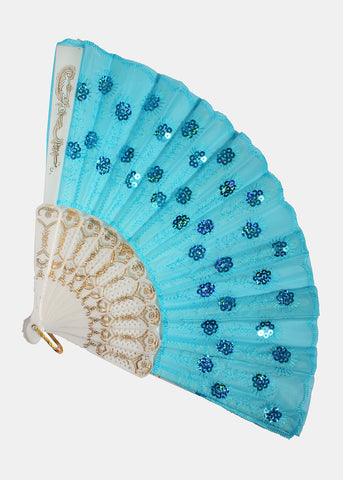 Sequin Stitch Hand Fan