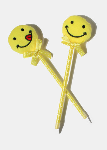 Plush Smiley Face Pen
