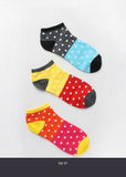 3 Pair Dotted Ankle Socks