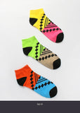 3 Pair Tribal Print Ankle Socks