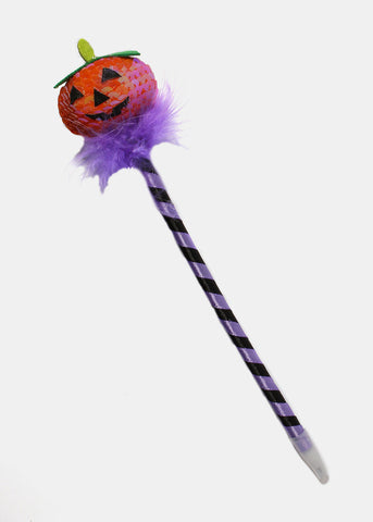 Sequin Pumpkin Striped Pen