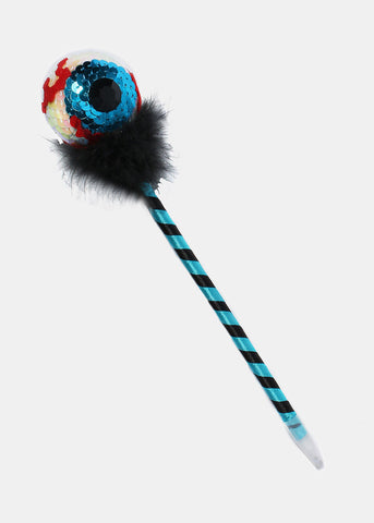 Sequin Eyeball Striped Pen