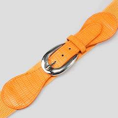 Orange Elastic High Waist Belt