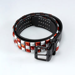 Red & Silver Checkered Belt