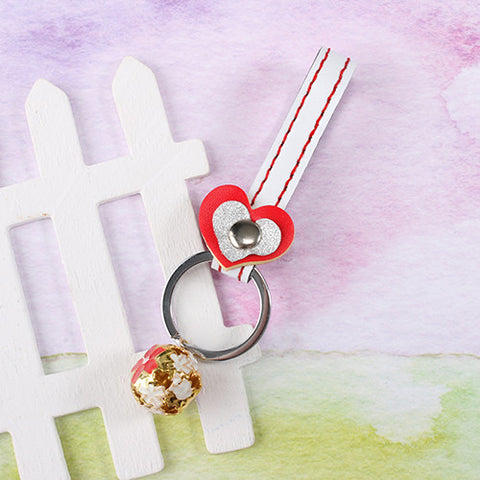 Heart Strap Key chain with Charm