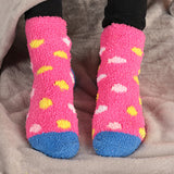 Fuzzy Polka Dot Socks