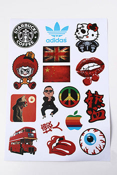 Travel & Vintage Sticker Sheet