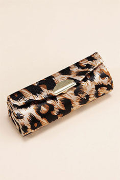 Leopard Print Lipstick Holder