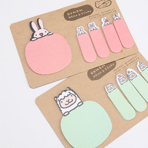 Cartoon Animal Sticky Notes