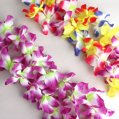 luau theme hawaiian fancy item dress beach lei party tropical flower leis garland necklace