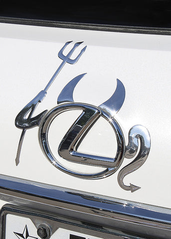 Devil Car Emblem Sticker