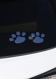 Silver Paw Print Car Sticker