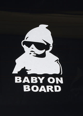 Super Cool Baby On Board Car Sticker