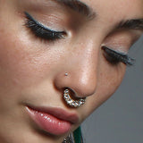 2 Piece Rhinestone Septum Ring Set
