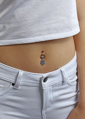 Lucky Clover Belly Ring