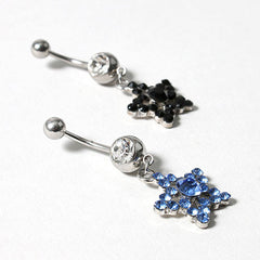 Rhinestone Star Belly Ring