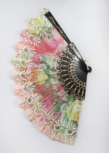 Multicolor Glitter Rose Fan