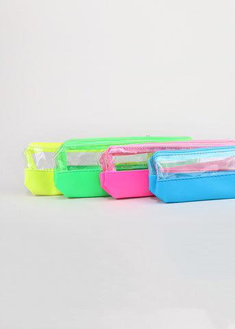 Clear Neon Trim Pouch