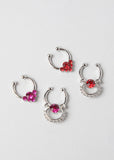2 Piece Rhinestone Cluster Septum Set