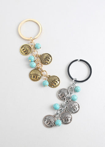 Bead & Charm Key Chain