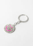 Rhinestone Smiley Face Key Chain