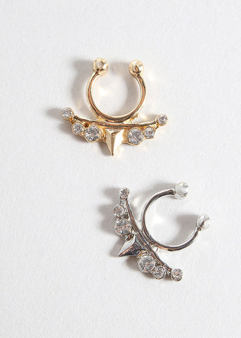Spike & Rhinestone Septum Ring