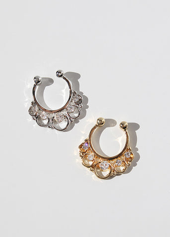 Looped Rhinestone Septum Ring