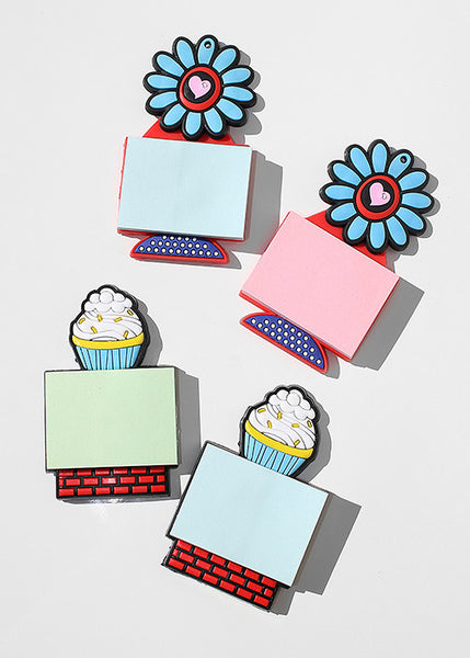 Flower & Cupcake Magnetic Notepads