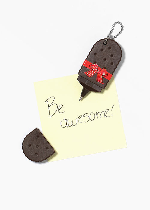 Wafer Cookie Pen Key Chain