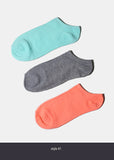 3 Pair Pastel Ankle Socks