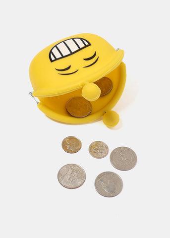Silicone Smiley Face Coin Pouch
