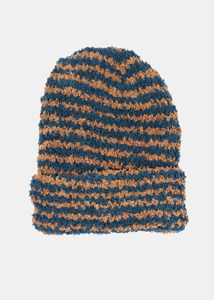 Soft Striped Winter Beanie