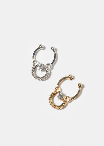 Horseshoe Gemstone Septum Ring Hanger