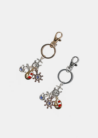 Nautical Charm Key Chain