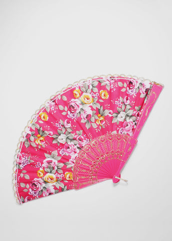 Colorful Floral Fan
