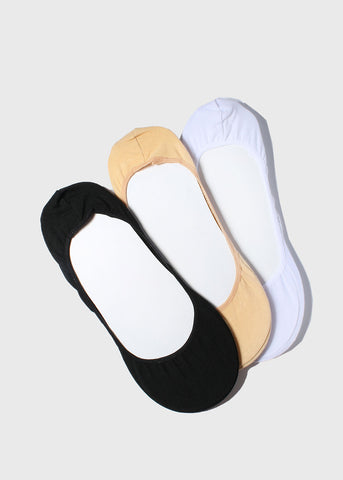 X-Large Basic Neutral No-Show Socks