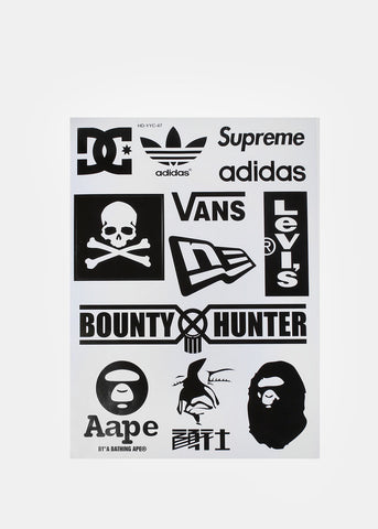 Dickie's/Supreme Sticker Set