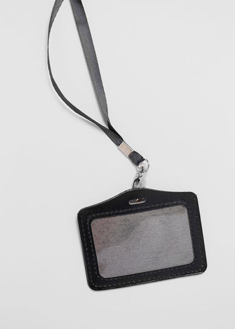 Faux Leather Horizontal ID Holder