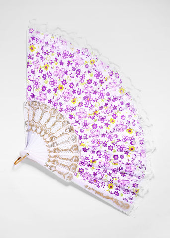 Butterfly & Daisy Lace Fan