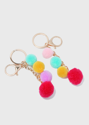 Pom-Pom Dangle Key Chain