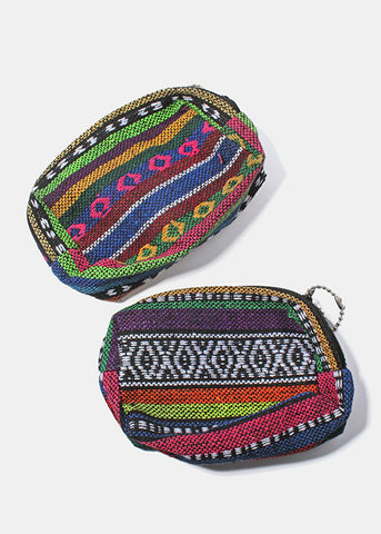 Zippered Tribal Print Pouch