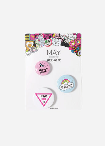"3 Piece ""Stay On Fleek"" Button Set"