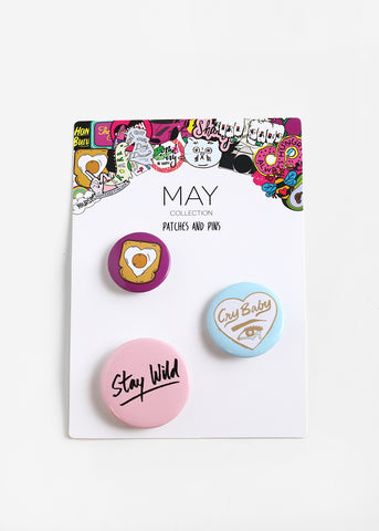 "3 Piece ""Stay Wild"" Button Set"