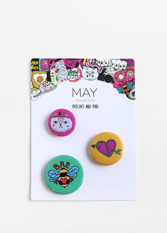"3 Piece ""BAE"" Button Set"
