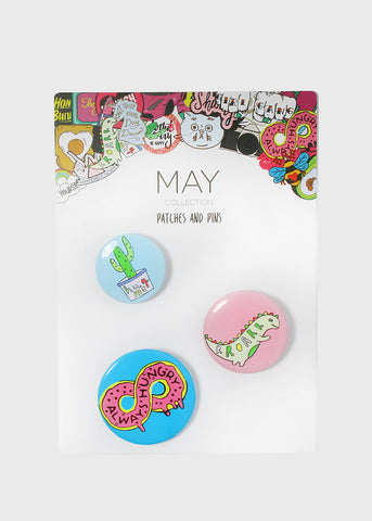 3 Piece Cactus Button Set