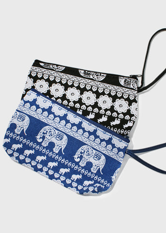Elephant & Flower Cosmetic Pouch