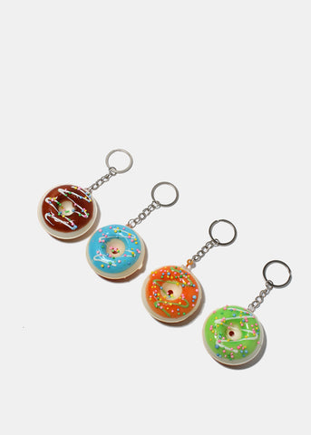 Squeezable Donut Keychain