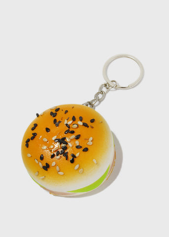 Squeezable Burger Keychain